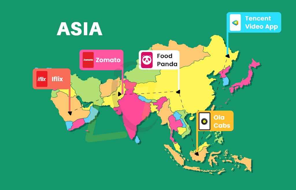 Top On-Demand Apps in Asia