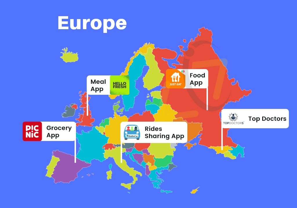 Top On-Demand Apps in Europe