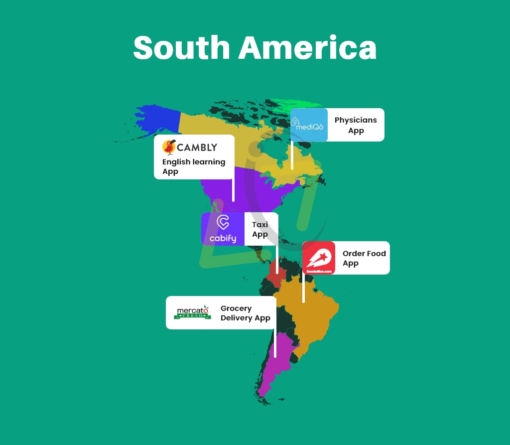 Top On-Demand Apps in South America